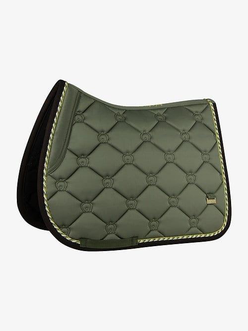 Moss green jump saddle pad