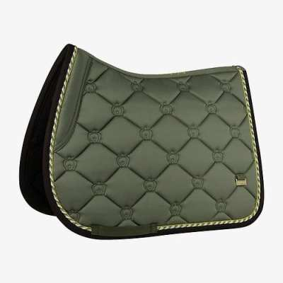 Moss green jump saddle pad