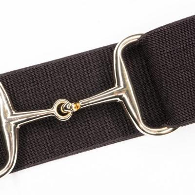 chocolate gold snaffle bit belt