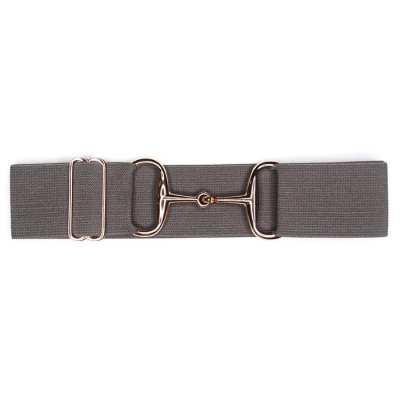 Rose gold snaffle bit belt