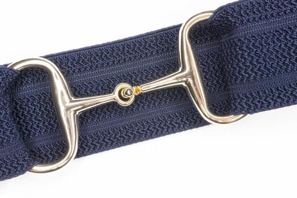 Gold snaffle bit belt