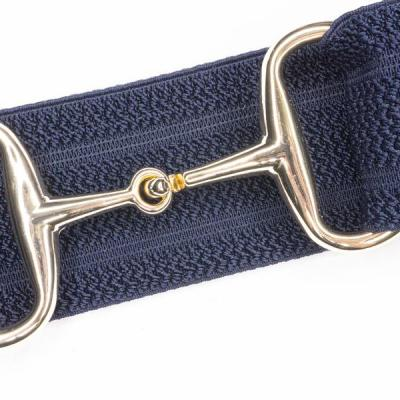 Gold snaffle bit belt