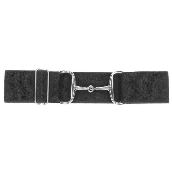 Snaffle bit belt silver and charcoal