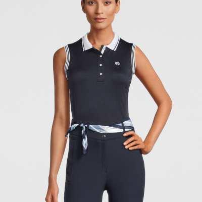 ladies sleeveless polo shirt