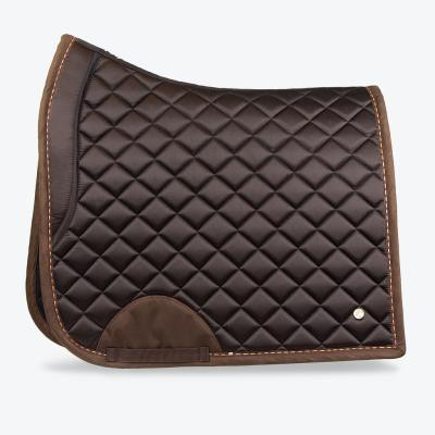 Brown chocolate dressage suded saddle pad