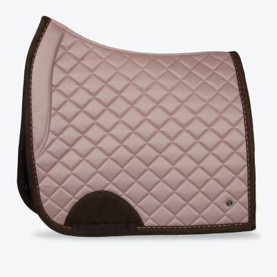 pink brown suded saddle pad