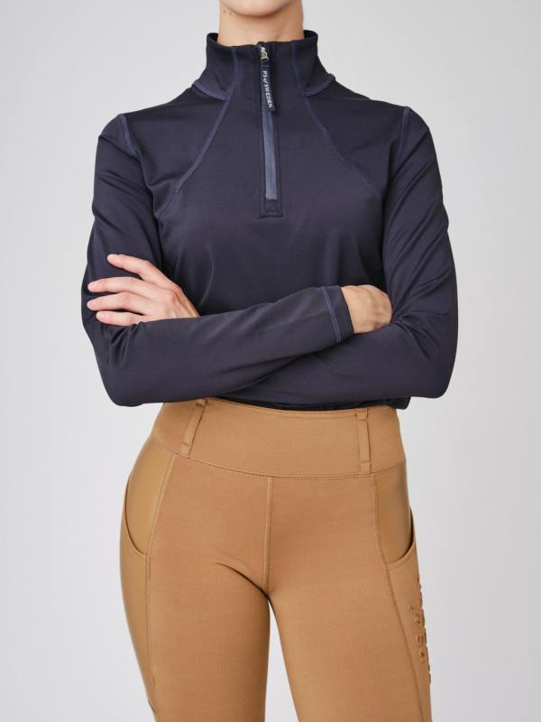 navy equestrian base layer