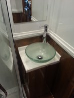 Corian® Topped Unit with Glass Sink & Piller Tap