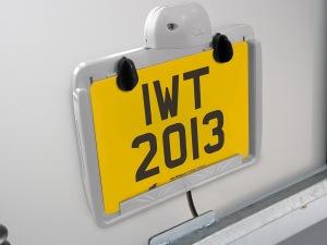Clip-On Number Plate Holder