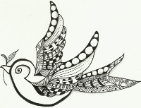 zentangle_oiseau