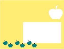 enveloppe j'aime les pommes