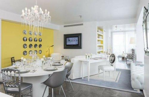 déco mur jaune-design starck