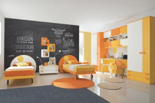 déco jaune-orange