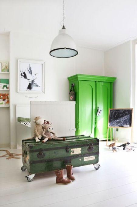 deco meuble vert-armoire