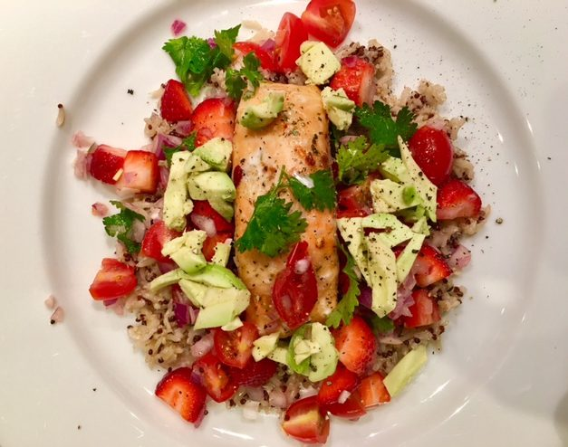 Salmon with summer salsa
