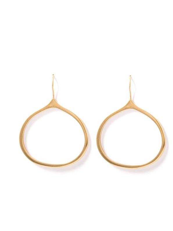 Kirsten Goss Onion Earrings Gold Vermeil