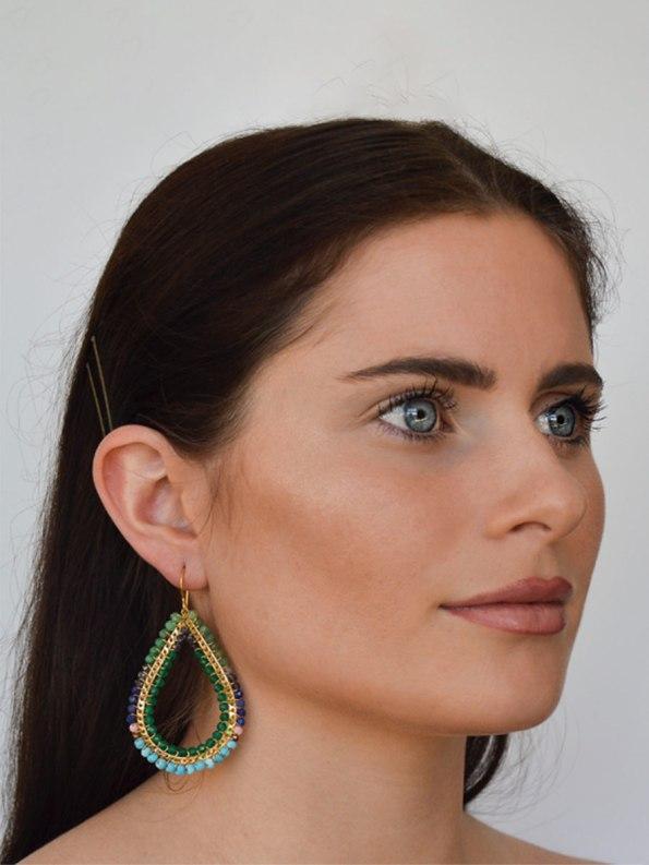 Kirsten Goss Bomber Earrings on Model_