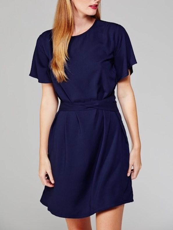 April Dress Navy Front
