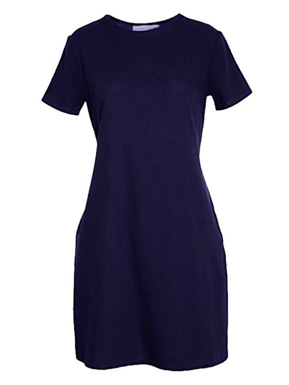 April Dress Navy Shopfront