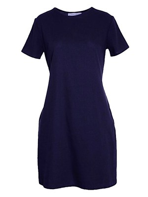Mareth Colleen April Dress in navy