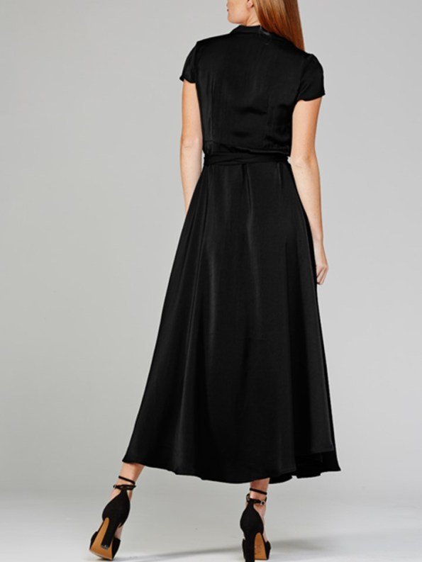 Mareth Colleen Philly Wrap Dress Black Back