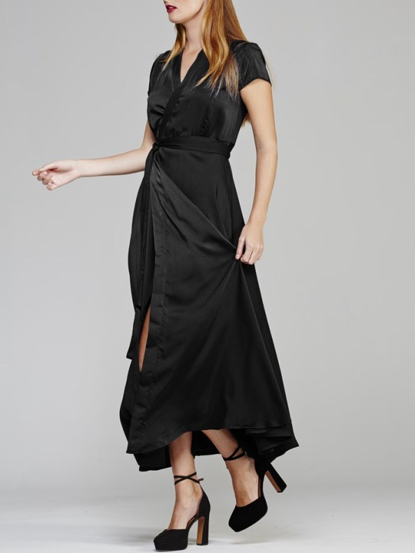 Mareth Colleen Philly Wrap Dress Black Side