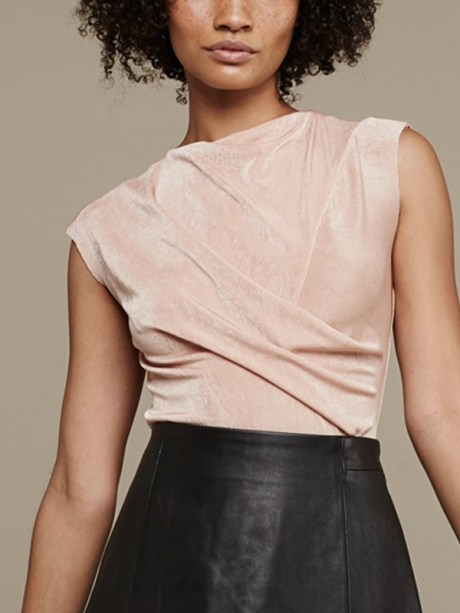 Mareth Colleen Faye Top Blush Front