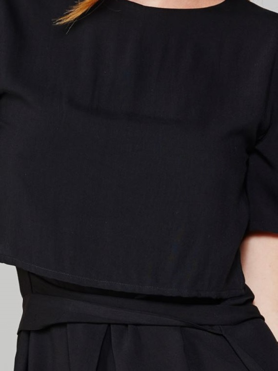 Napa Dress Black Closeup