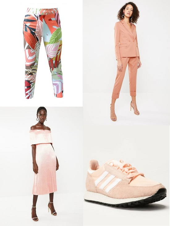 Peach lilac fashion