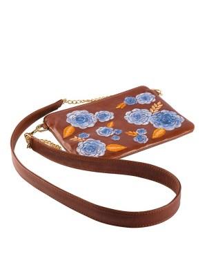 brown leather cross body bag