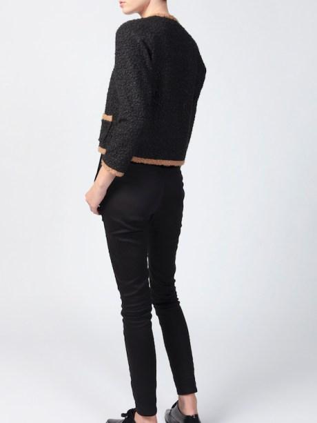 Black Chanel-style jacket back