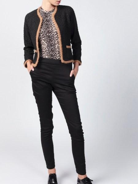 Black Chanel-style jacket