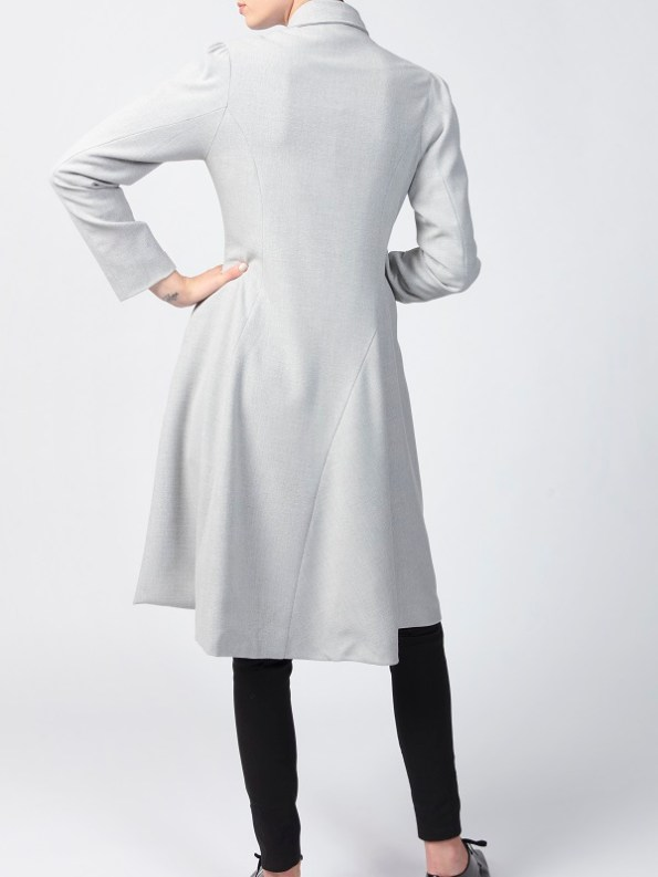 Smudj Vivienne Coats Light Grey Back