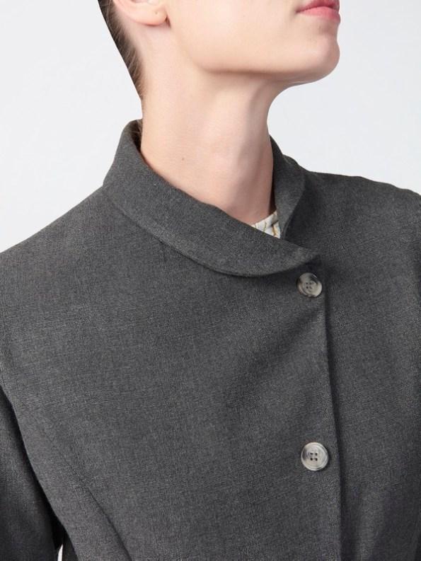 Vivienne Coat Anthracite Colloar
