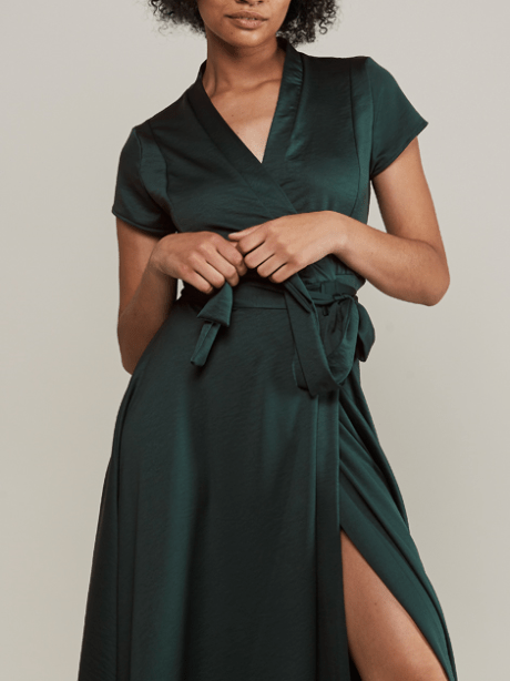green wrap dress maxi dress South Africa