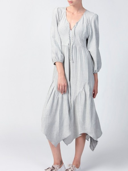 Smudj Bali Dress Grey Front