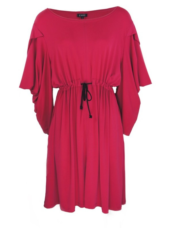 Erre Just Sleeve It Drawstring Dress Pink Shopfront