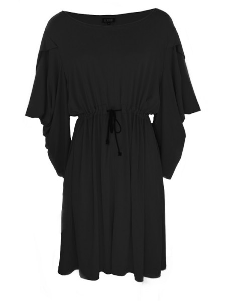 Erre Just Sleeve it Drawstring Dress Black Shopfront