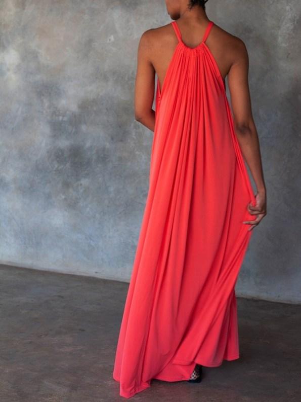 Erre Multi-way Myri Dress Coral Back