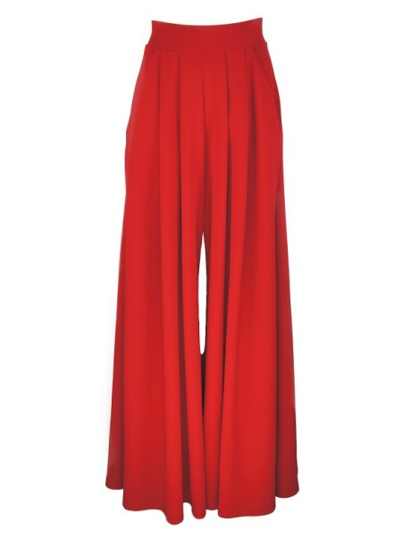 Erre Stroll Wide Leg Pants Red Shopfront