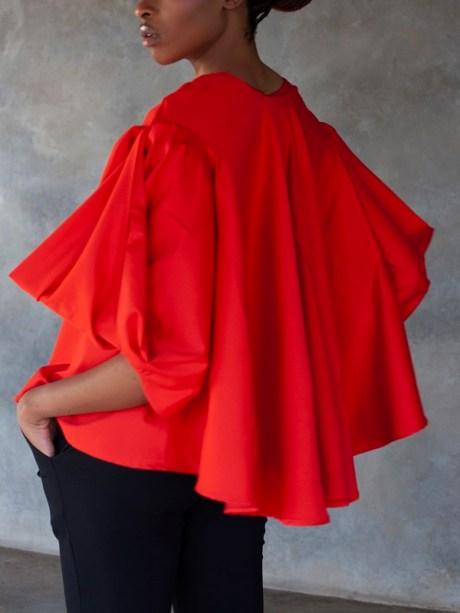 Erre Swing It Jacket Red with Sprint Skinny Pants Black Back Crop