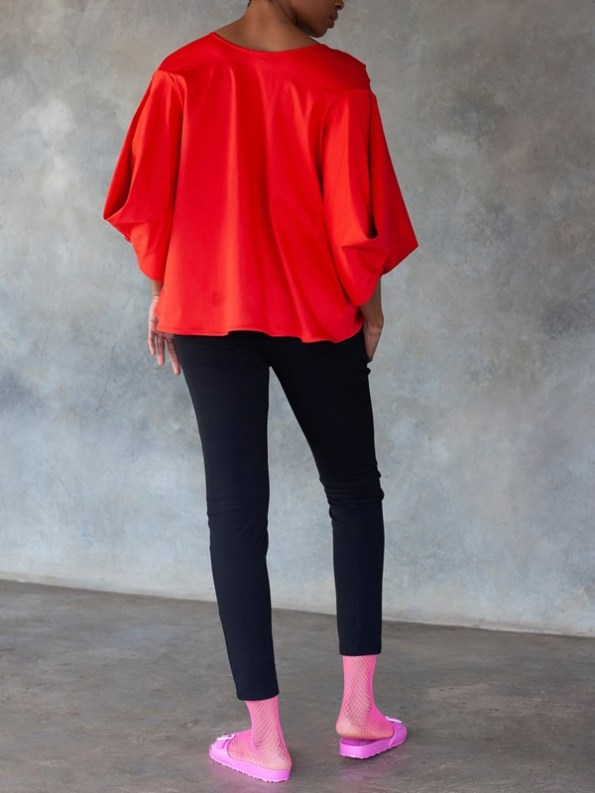 Erre Swing It Jacket Red with Sprint Skinny Pants Black Back
