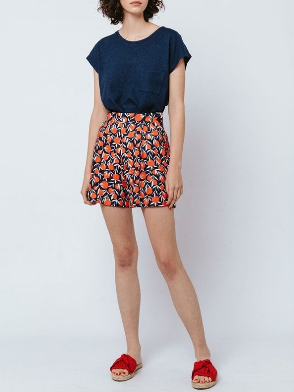 Good Hemp T-Shirt Navy and Gardening Shorts Front