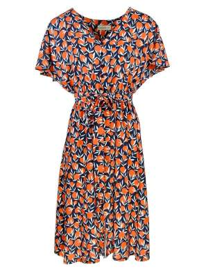 Dress with oranges print