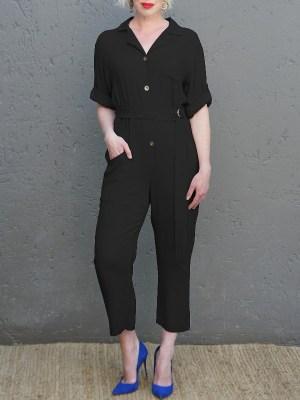 JMVB Menton Boiler Suit Black Front