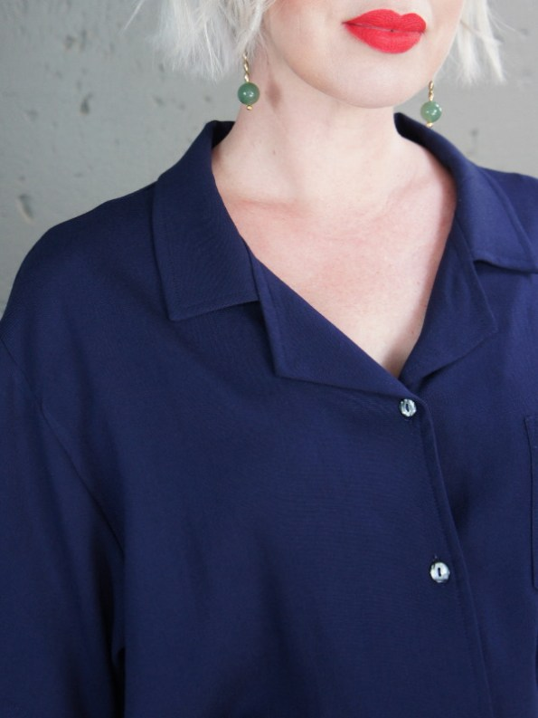 JMVB Nimes Shirt Navy Collar