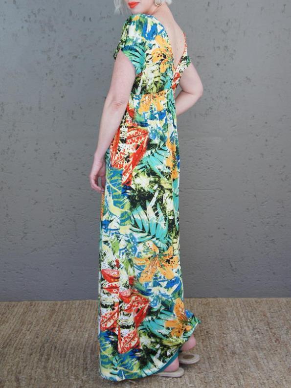 JMVB St Tropez Dress Tropical Print Back