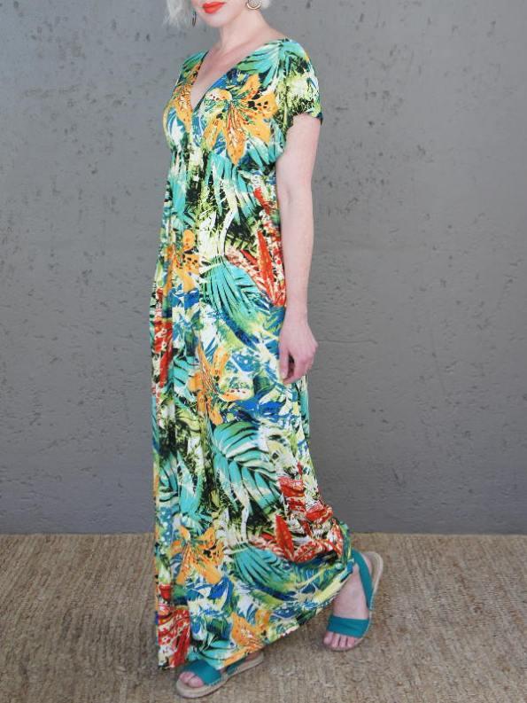 JMVB St Tropez Dress Tropical Print Side