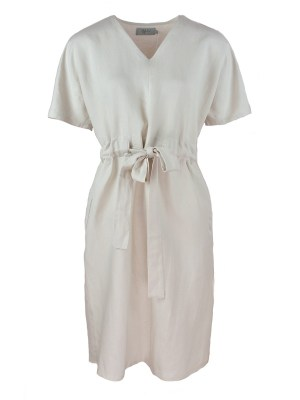 Stone coloured linen dress