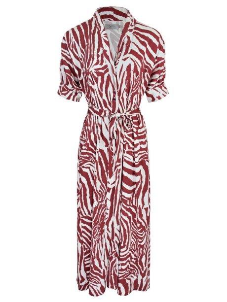 Smudj Lennie Dress Claret Zebra Shopfront